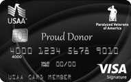 Paralyzed Veterans of America USAA Rewards Visa Signature Card Application