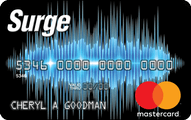 Surge MasterCard Credit Card Application