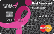 Susan G. Komen Credit Card Application