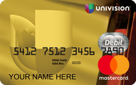 Univision MasterCard Prepaid Card Application