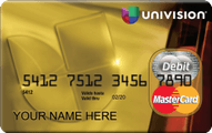 Univision MasterCard Prepaid Card Application
