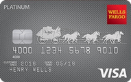 Wells Fargo Visa Platinum Card Application