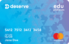 Deserve® Edu Mastercard for Students
