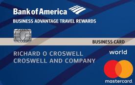 Bank of America® Business Advantage Travel Rewards World Mastercard® credit card