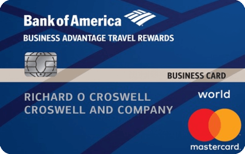 Bank of America® Business Advantage Travel Rewards World Mastercard® credit card Image