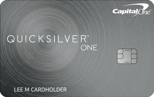 Capital One® QuicksilverOne® Cash Rewards Credit Card Image