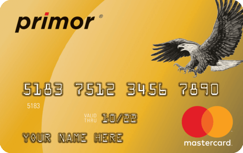 Green Dot primor® Mastercard® Gold Secured Credit Card Image